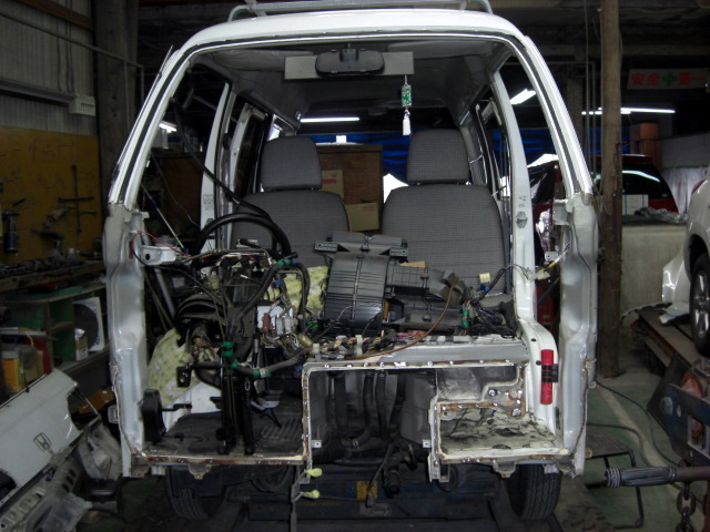 ホンダ アクティ、事故による修理