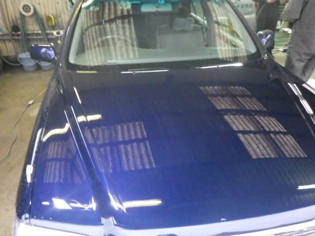 トヨタクラウン ボンネット塗装剥がれの再塗装