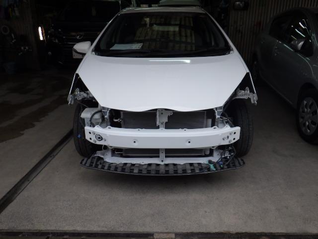 鹿児島市 アクアの大破車を修理しました。