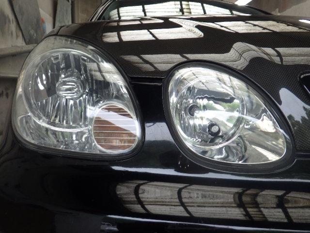 トヨタアリストのヘッドライトの黄ばみをリペアしました。(ドリームコート)