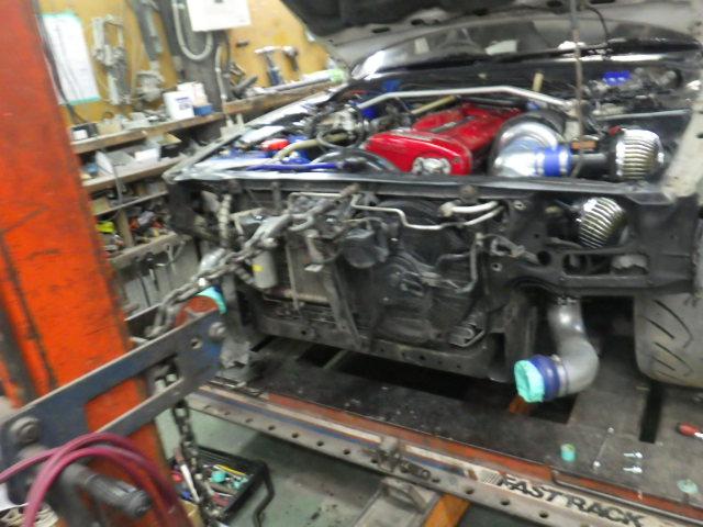 日産スカイラインGTR BNR32 フレーム修正