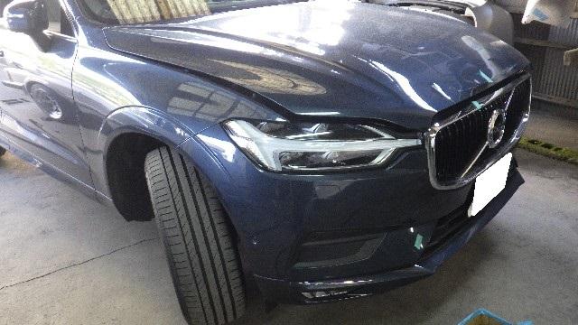 ボルボ(VOLVO) XC60のフロント事故車を修理しました。